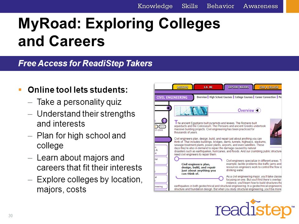 MyRoad: Exploring Colleges and Careers