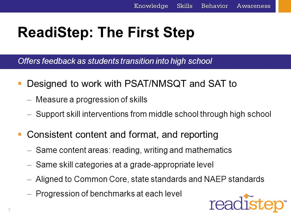 ReadiStep: The First Step