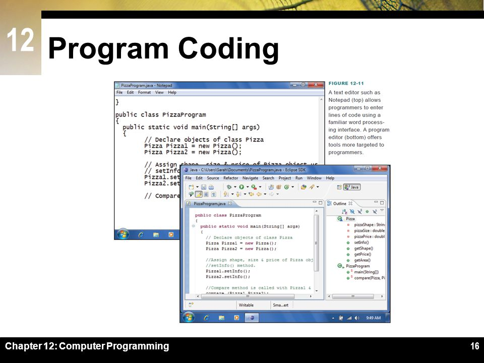 Program Coding Figure 12-11 Chapter 12: Computer Programming