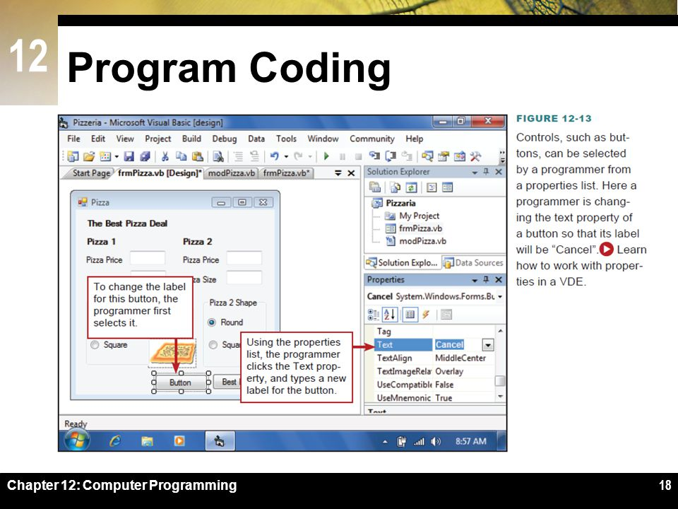 Program Coding Figure 12-13 Chapter 12: Computer Programming