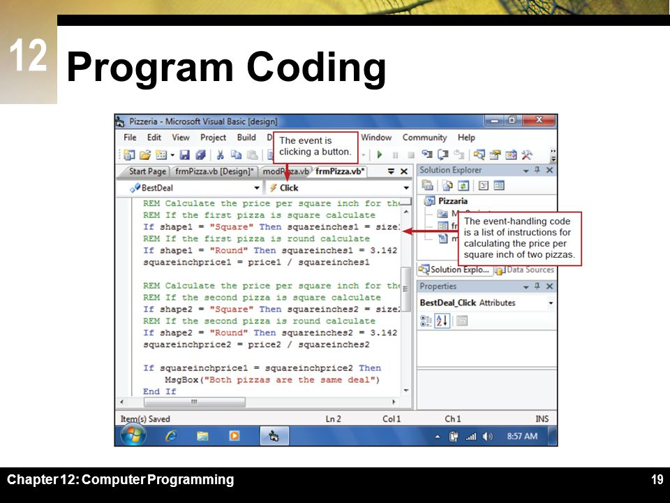 Program Coding Figure 12-14 Chapter 12: Computer Programming
