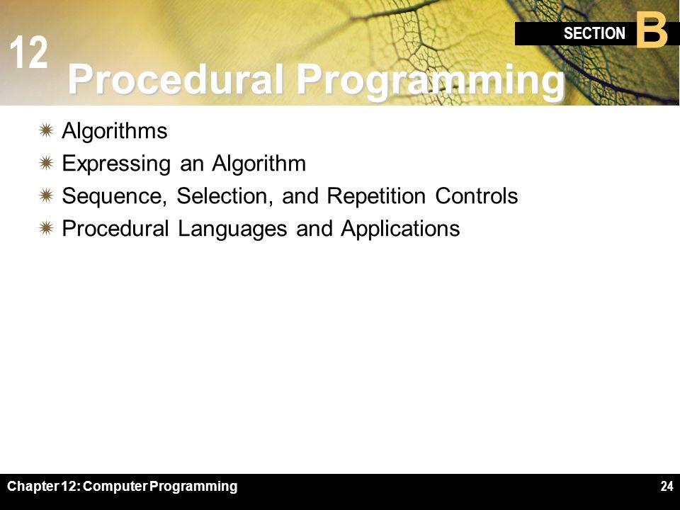 Procedural Programming