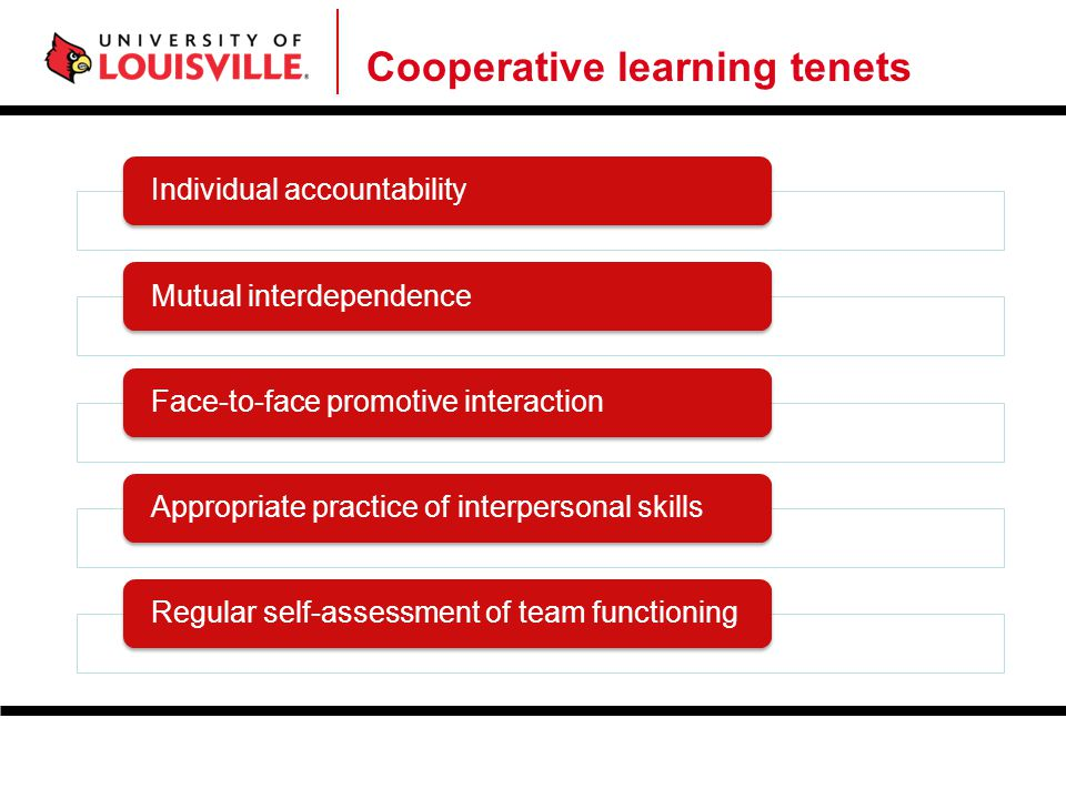 Cooperative learning tenets