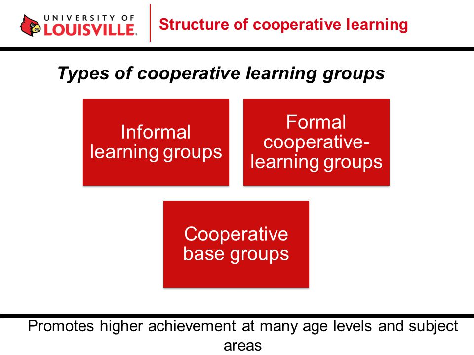 Informal learning groups Formal cooperative-learning groups