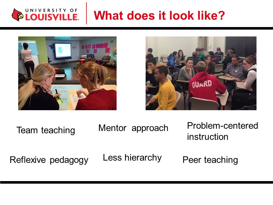 What does it look like Problem-centered instruction Mentor approach