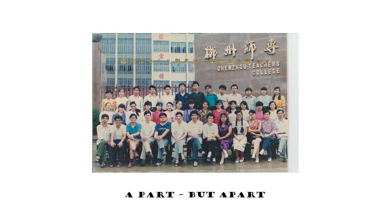1. A part – but apart