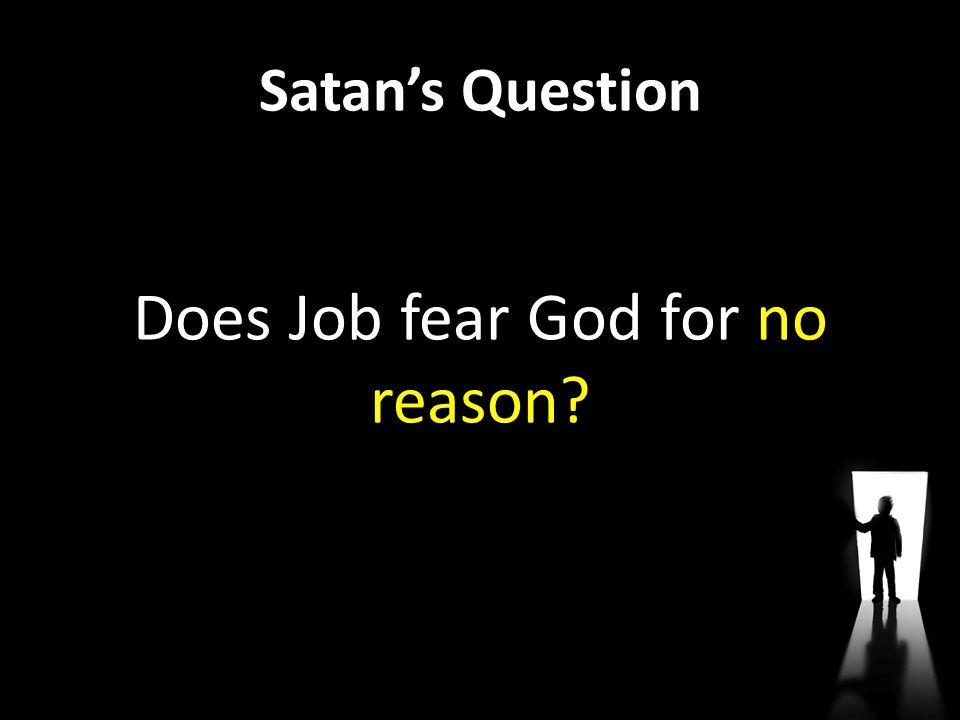 Does Job fear God for no reason