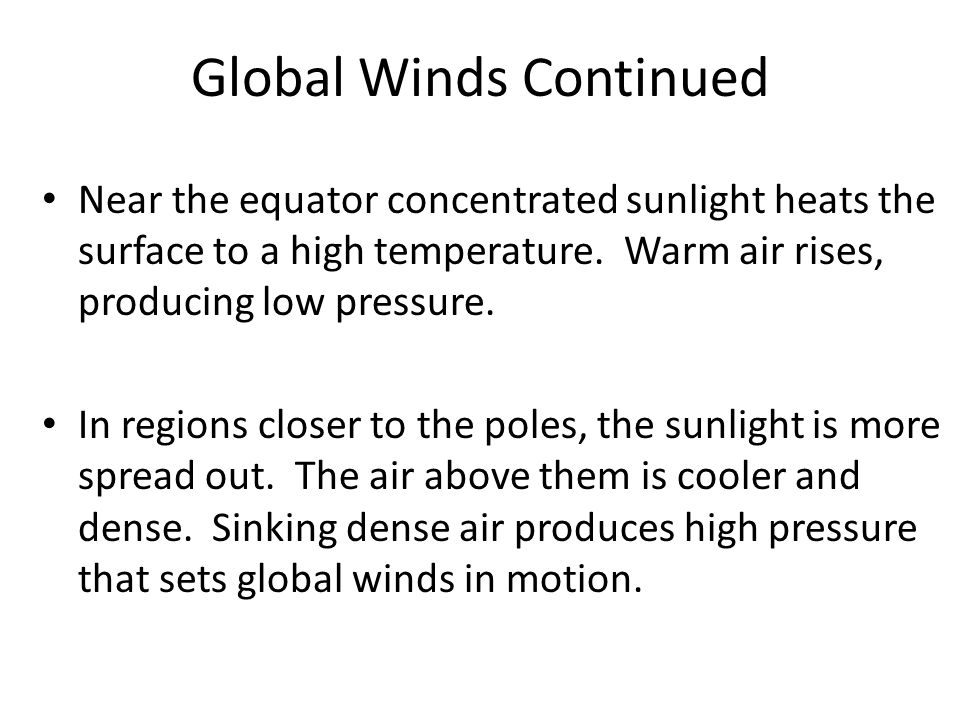 Global Winds Continued