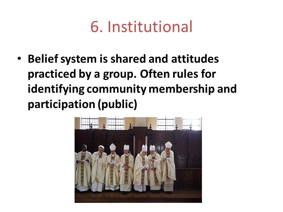 6. Institutional