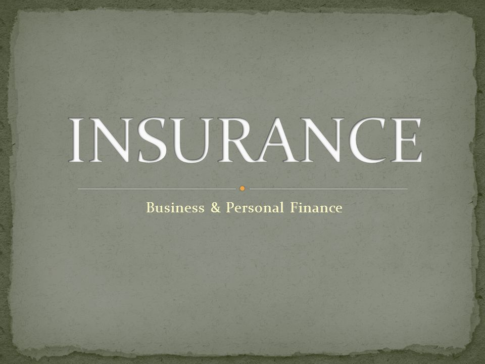 Business & Personal Finance