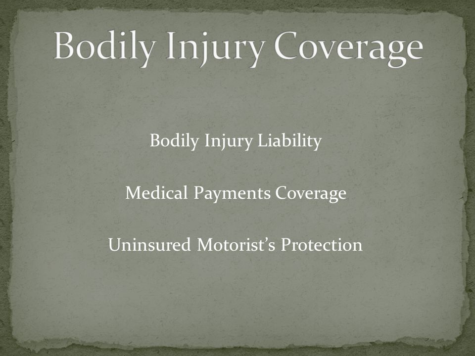 Bodily Injury Coverage