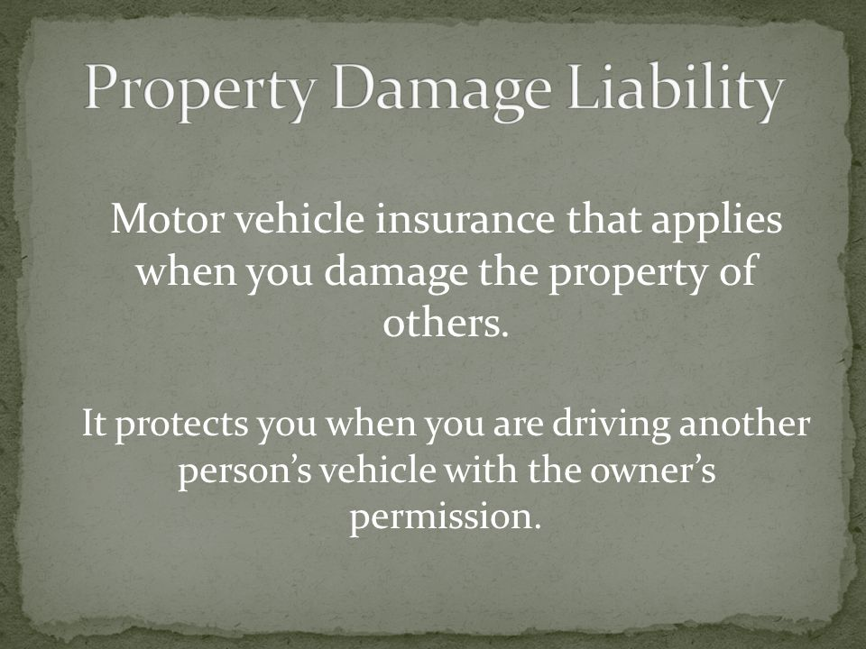 Property Damage Liability