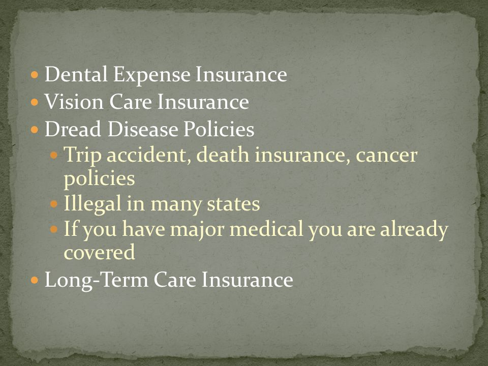 Dental Expense Insurance