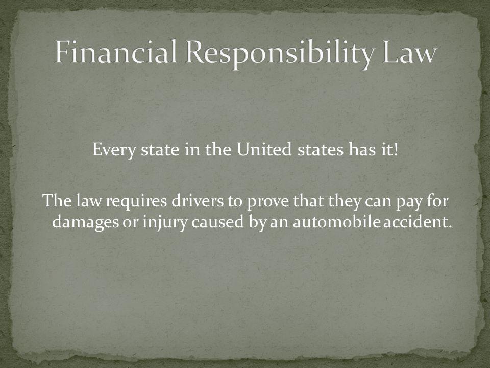 Financial Responsibility Law
