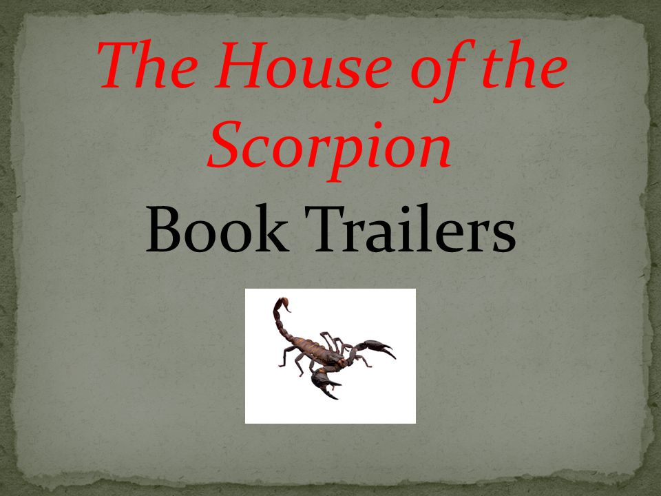 The House of the Scorpion Book Trailers