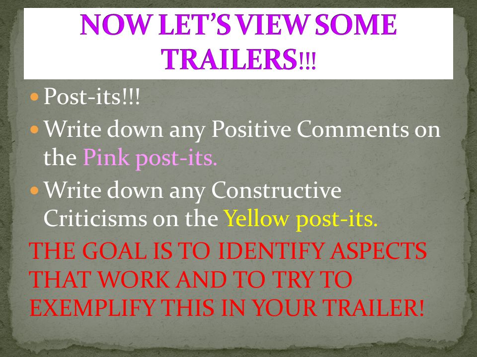 NOW LET'S VIEW SOME TRAILERS!!!