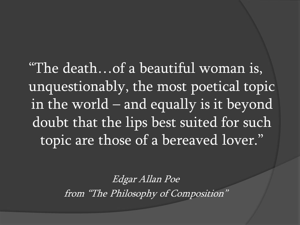 from The Philosophy of Composition