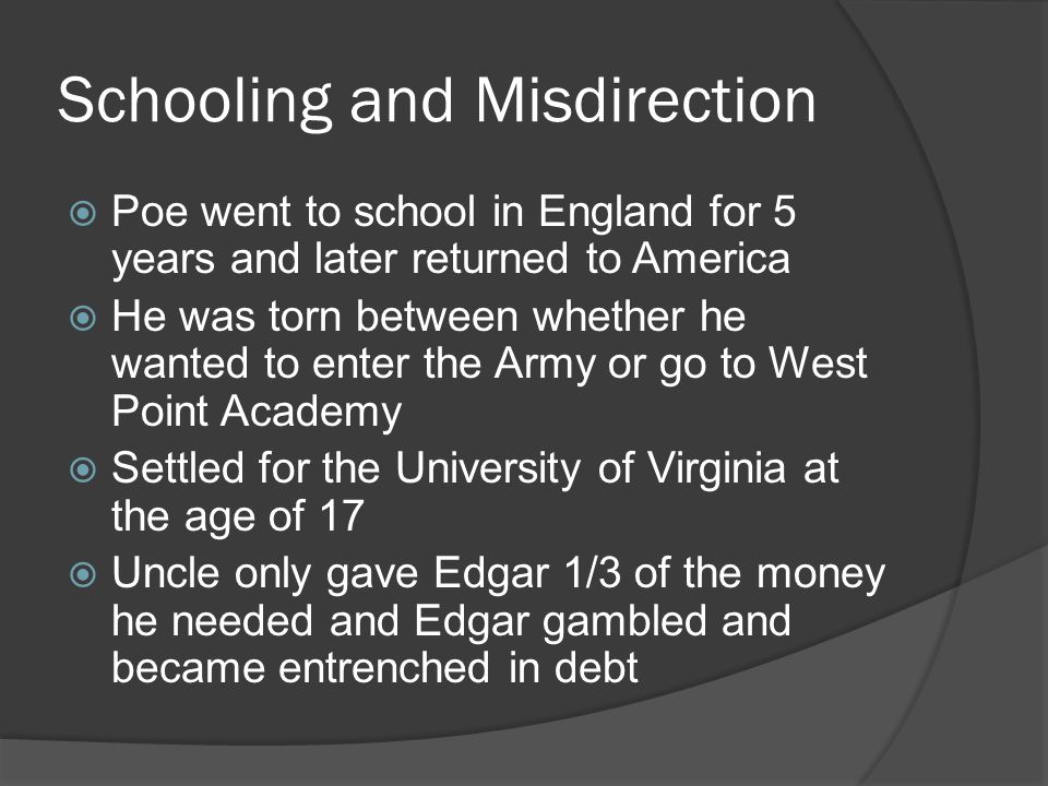 Schooling and Misdirection