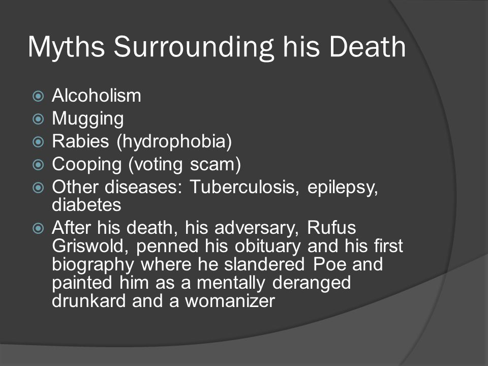 Myths Surrounding his Death
