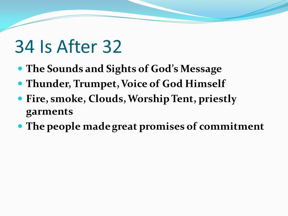 34 Is After 32 The Sounds and Sights of God's Message