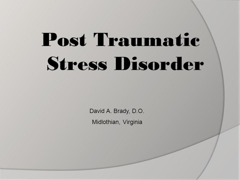 ptsd thesis Writing your ptsd stressor statement if you're seeking va disability compensation for post-traumatic stress disorder (ptsd), you may need to submit.