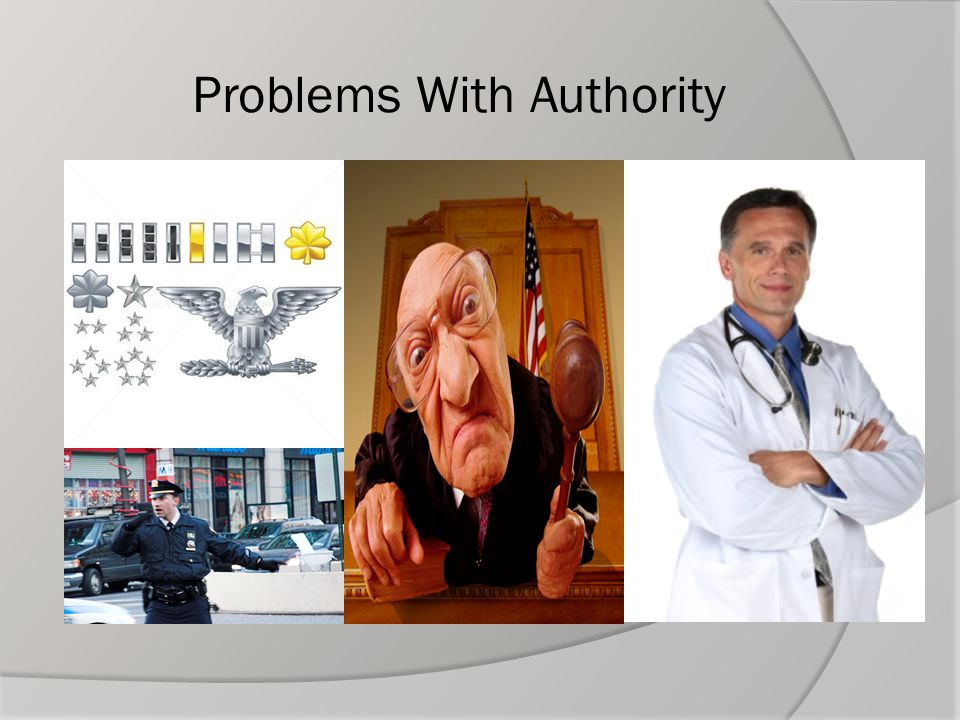 Problems With Authority
