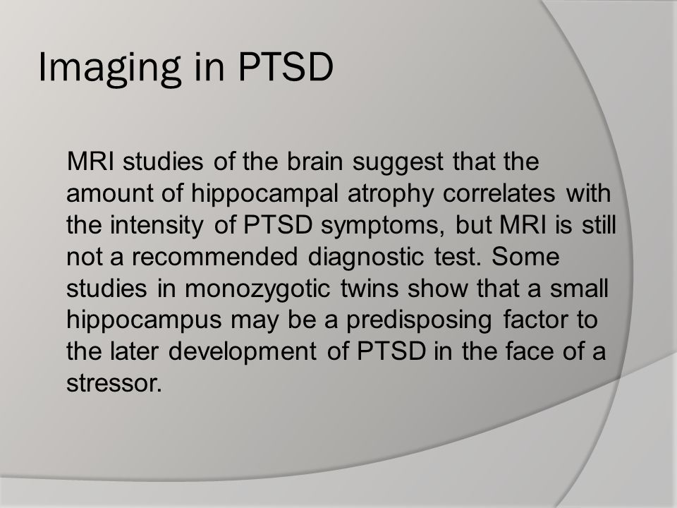Imaging in PTSD