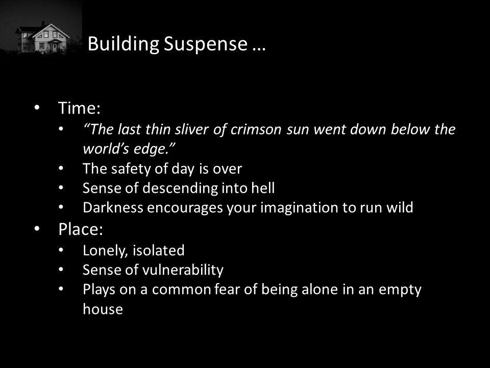 Building Suspense … Time: Place: