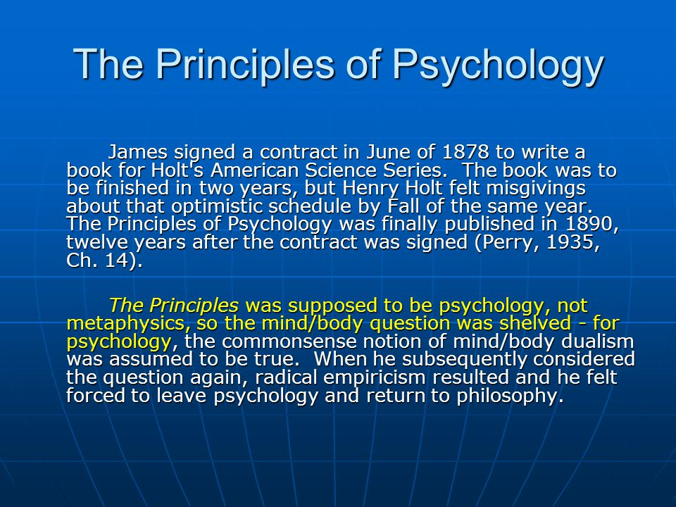 The Principle Of An Optimist Tomorrow Will Be: The Principles Of Psychology