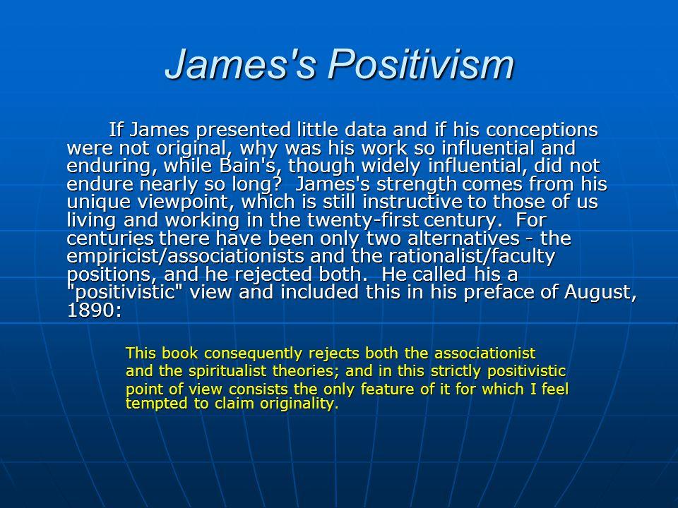 James s Positivism