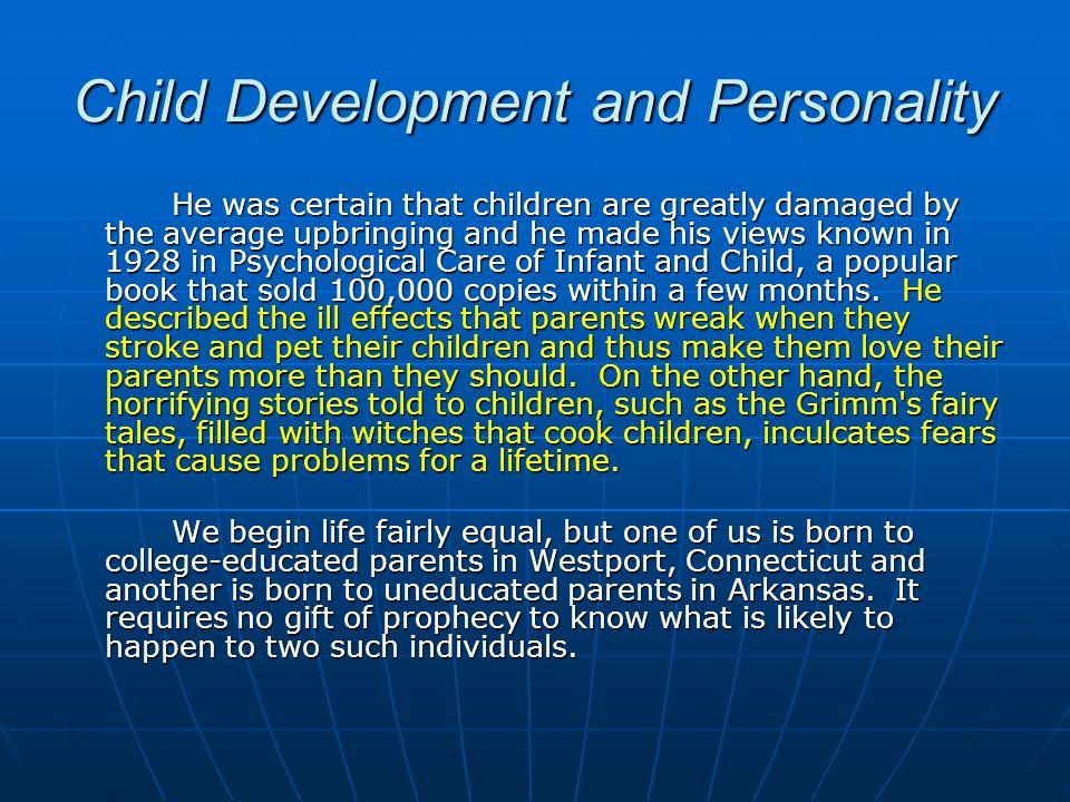 Child Development and Personality
