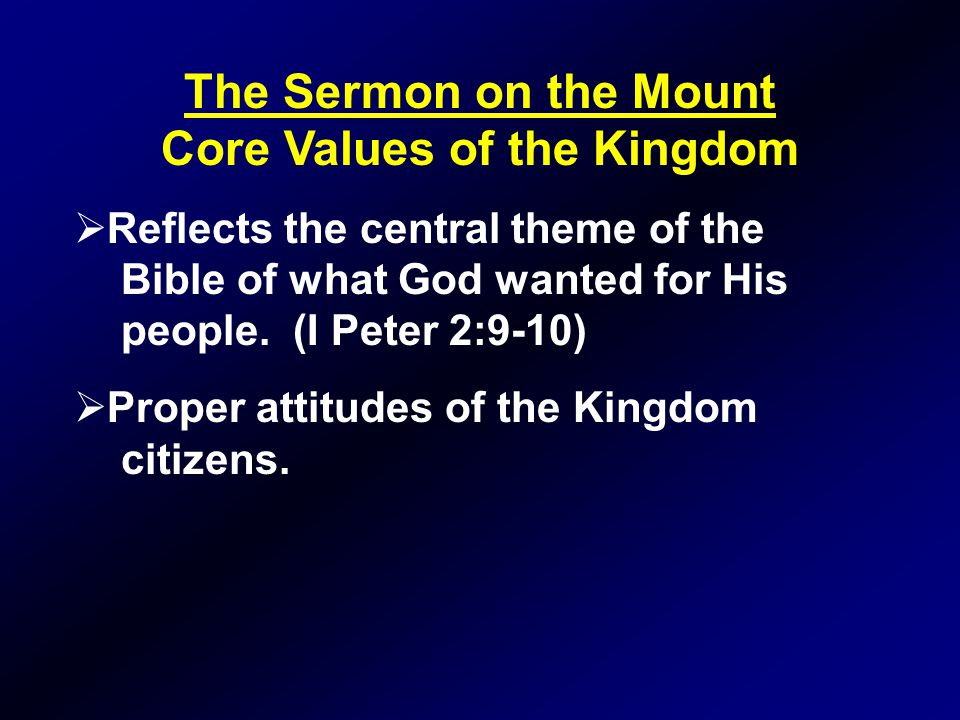 Core Values of the Kingdom