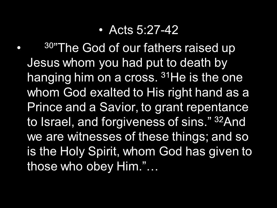 Acts 5:27-42