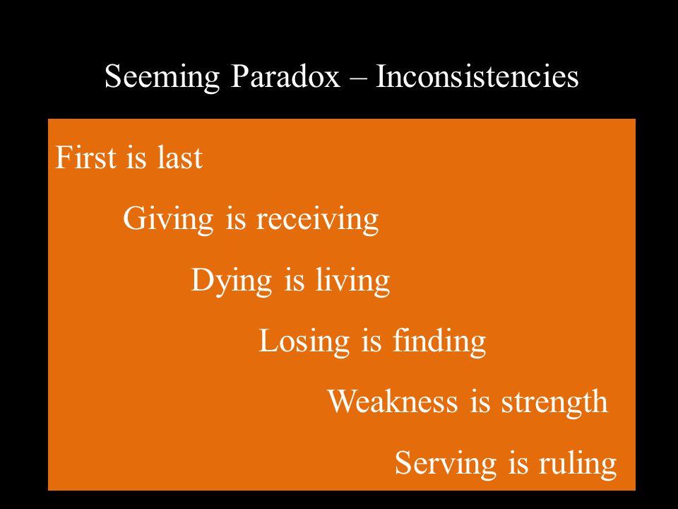 Seeming Paradox – Inconsistencies