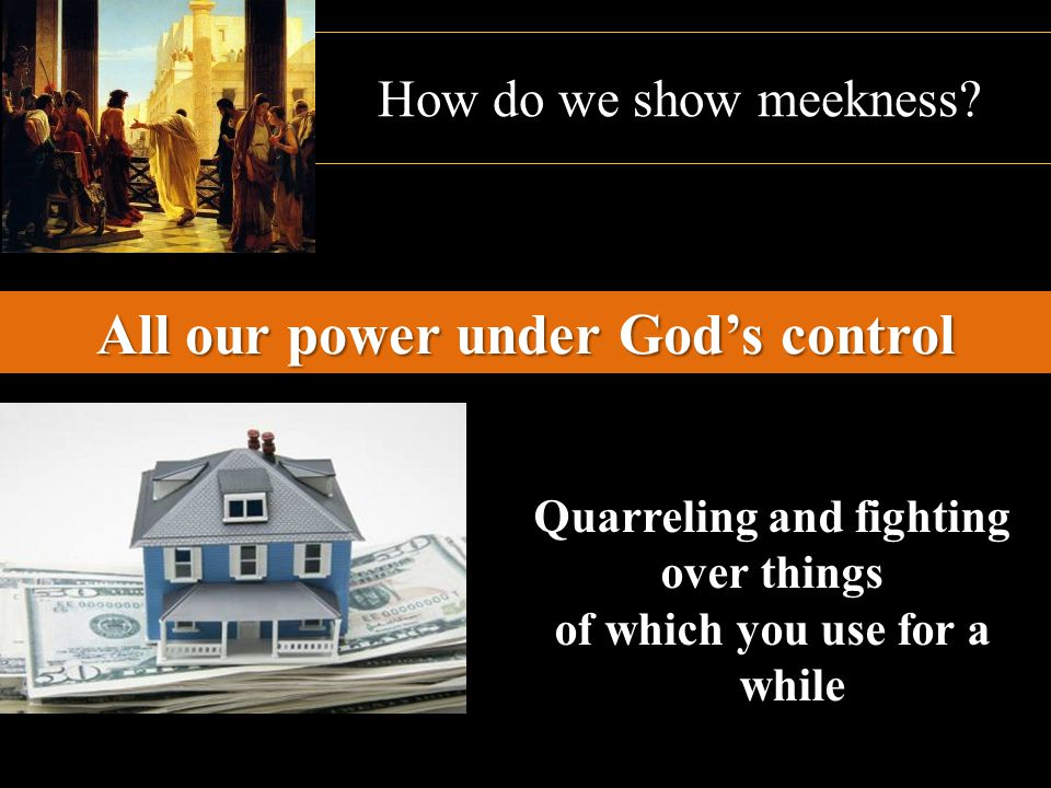 All our power under God's control