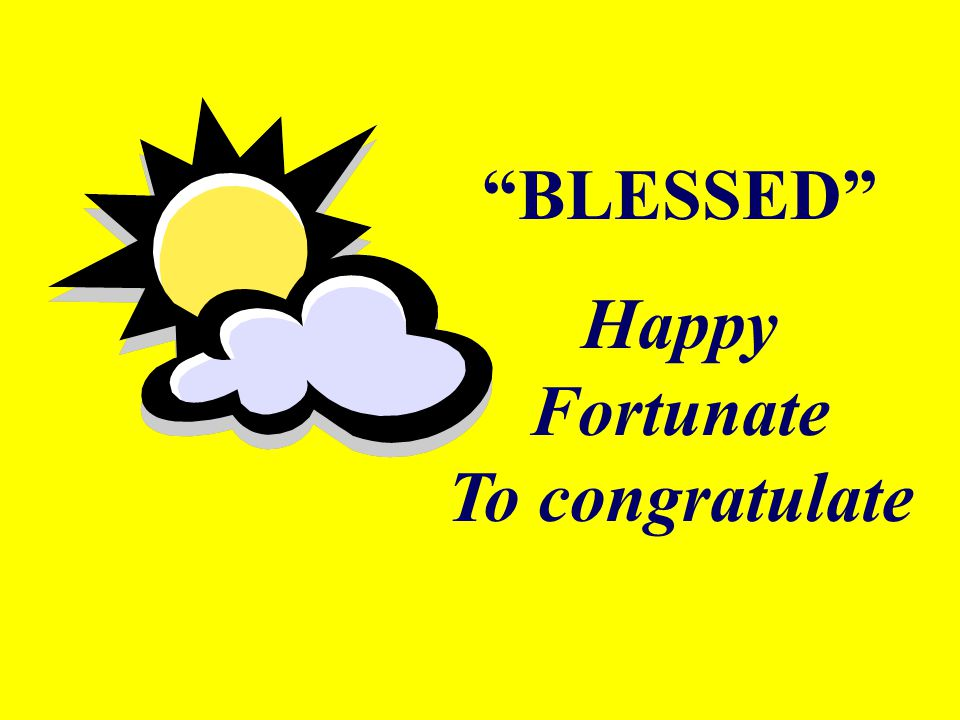 Happy Fortunate To congratulate