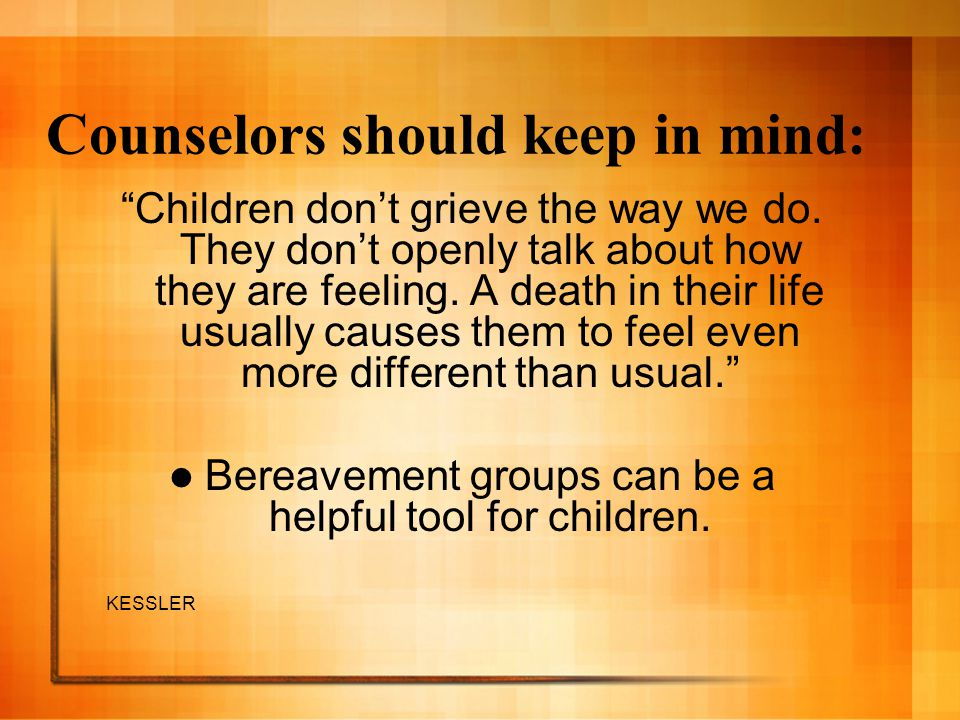 Counselors should keep in mind: