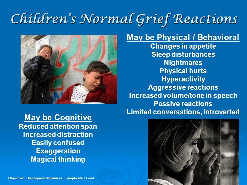Children's Normal Grief Reactions