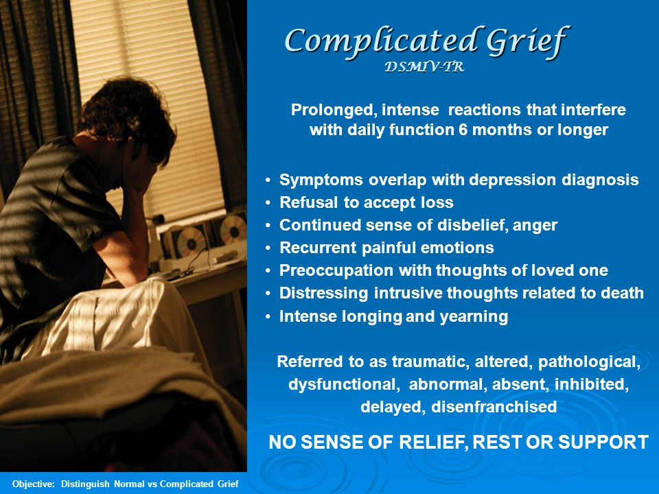 Complicated Grief DSMIV-TR