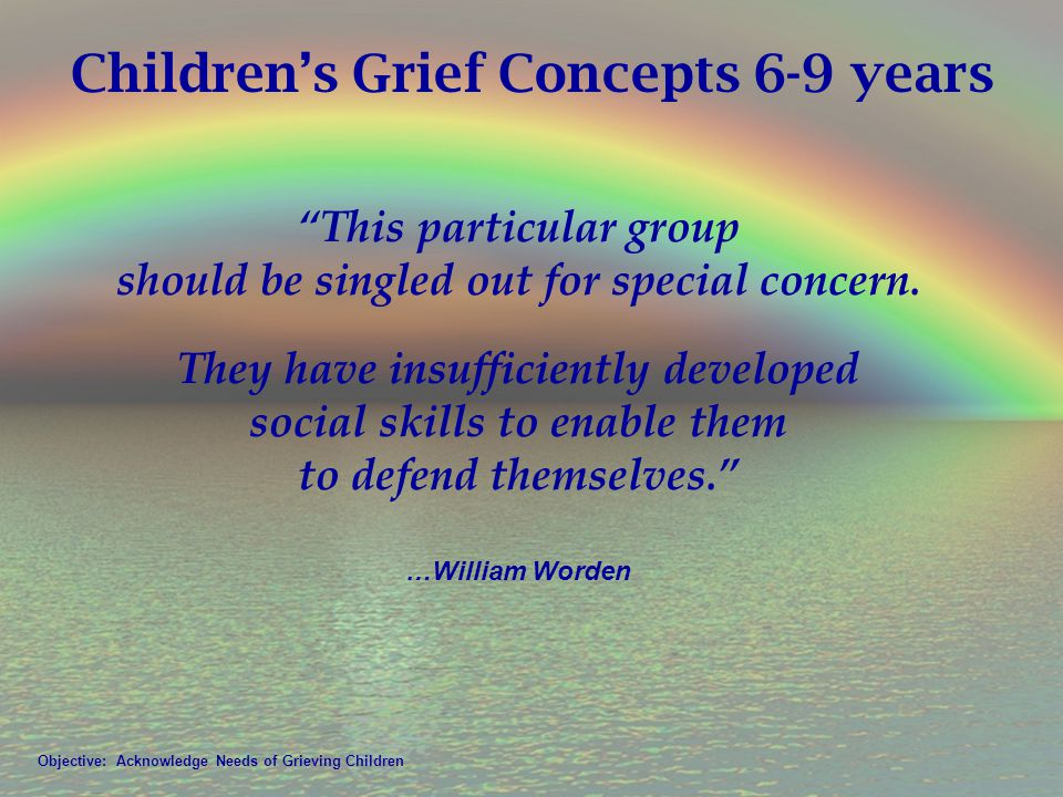 Children's Grief Concepts 6-9 years