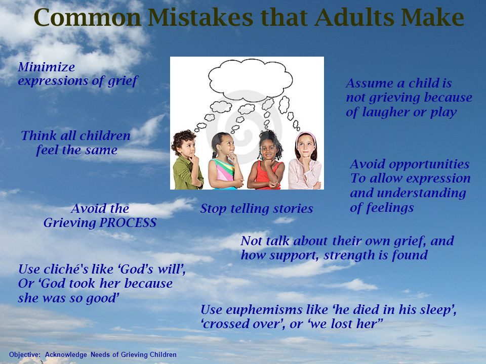Common Mistakes that Adults Make