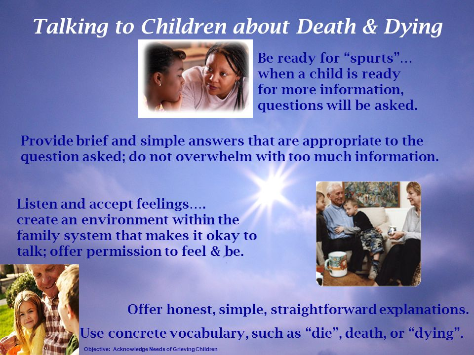 Talking to Children about Death & Dying