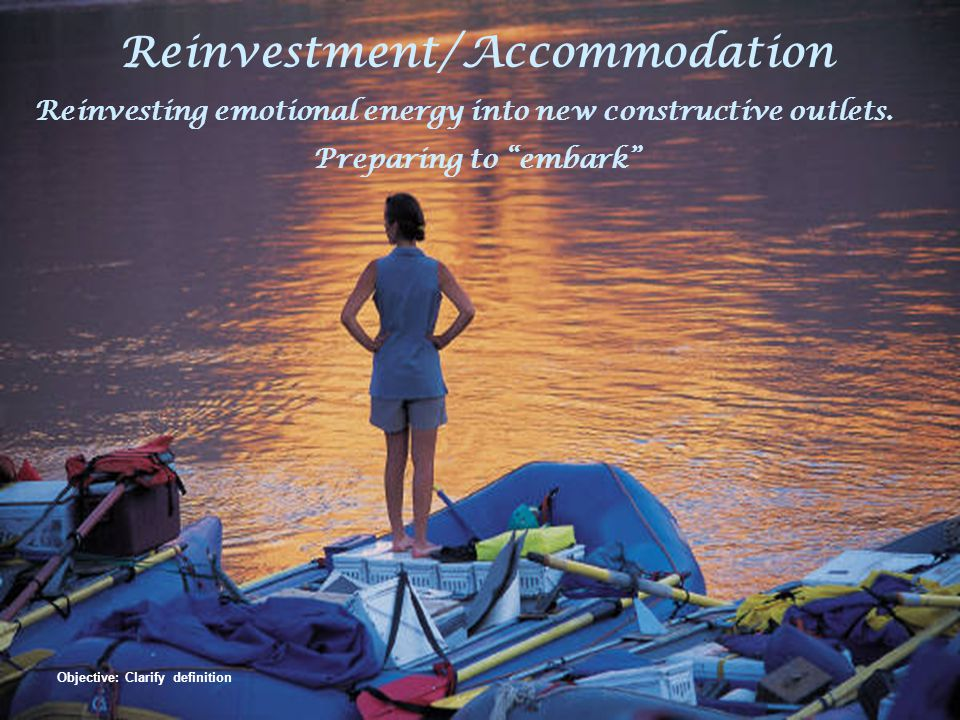 Reinvestment/Accommodation Objective: Clarify definition