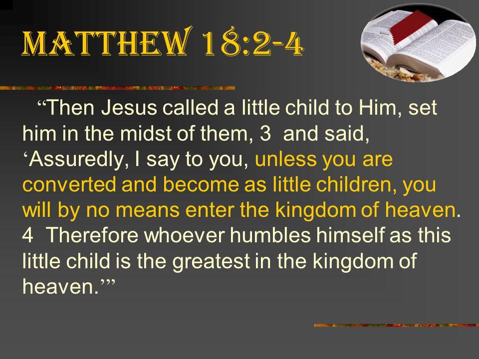 Matthew 18:2-4