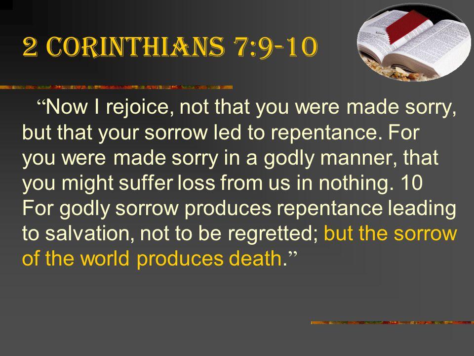 2 Corinthians 7:9-10