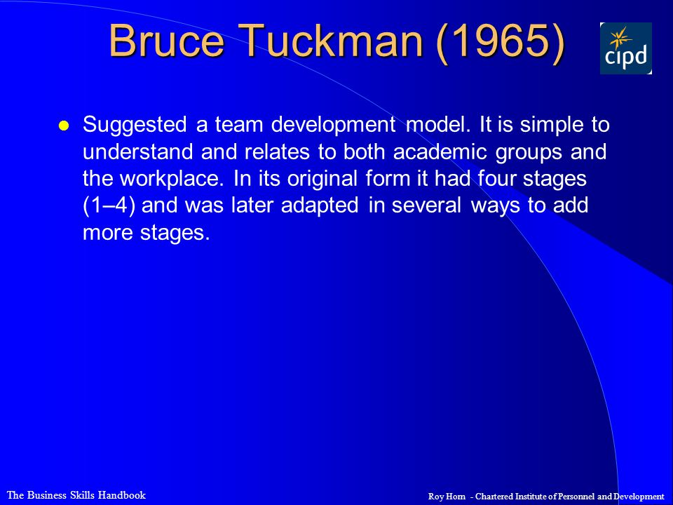 Bruce Tuckman (1965)