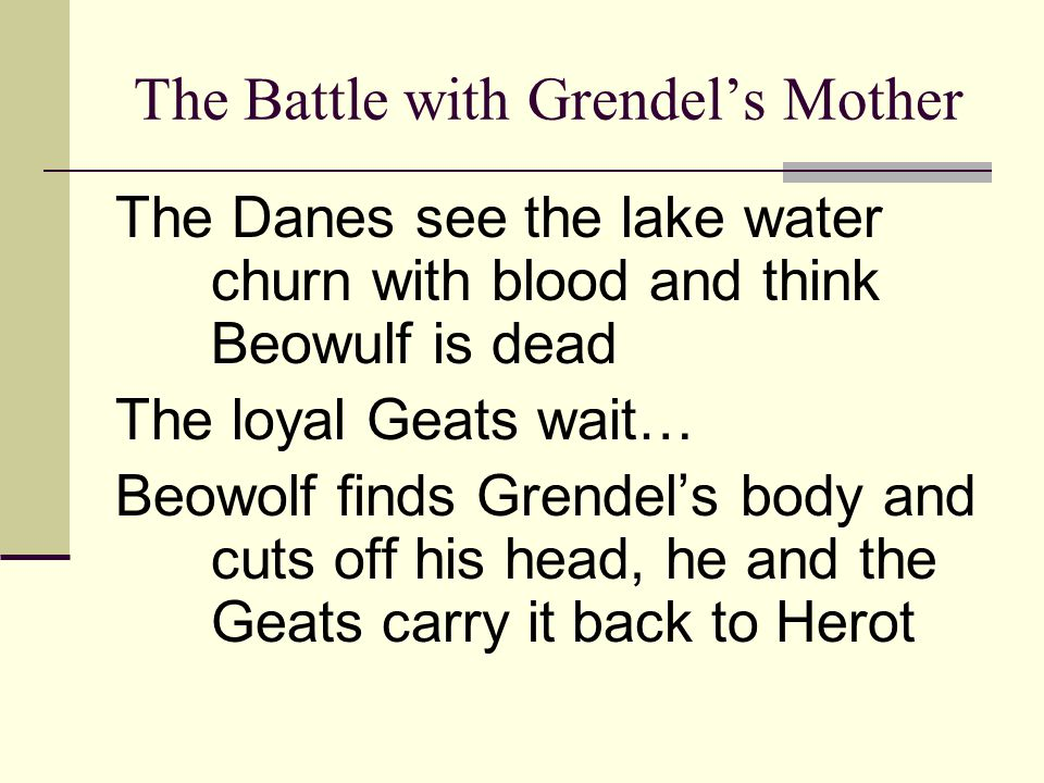 The Battle with Grendel's Mother