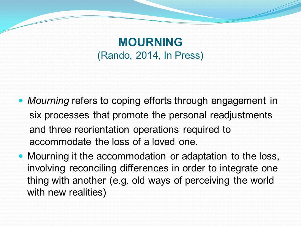 MOURNING (Rando, 2014, In Press)
