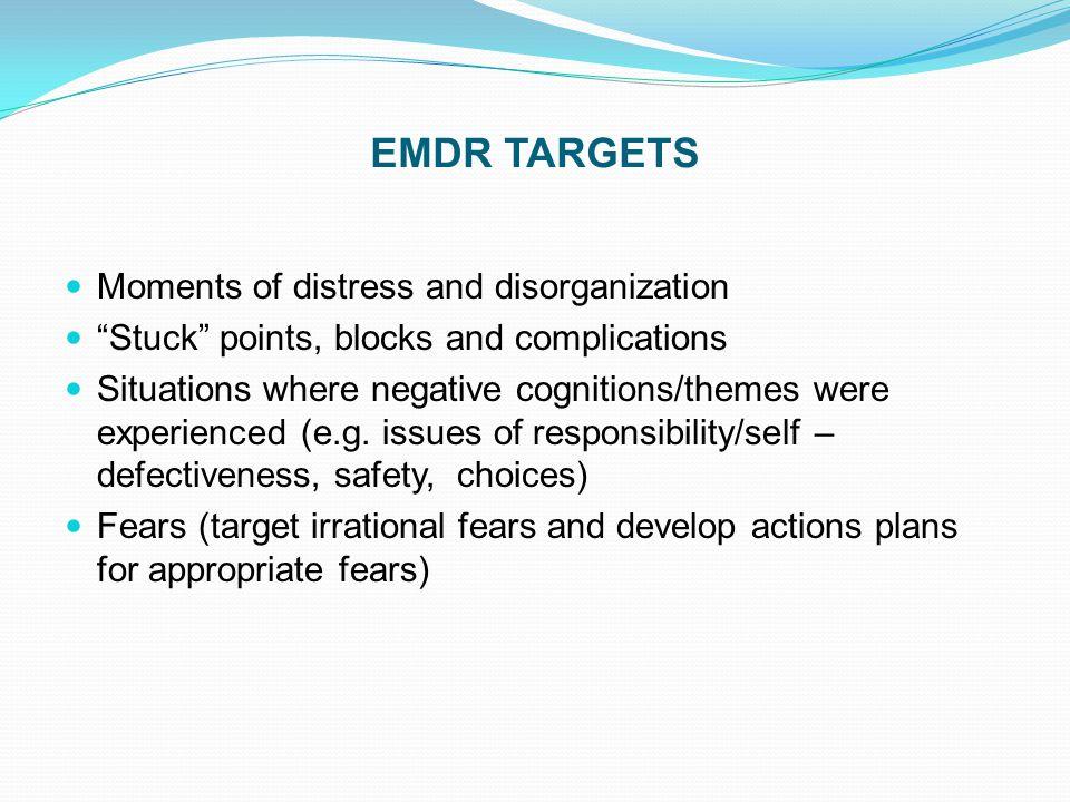 EMDR TARGETS Moments of distress and disorganization