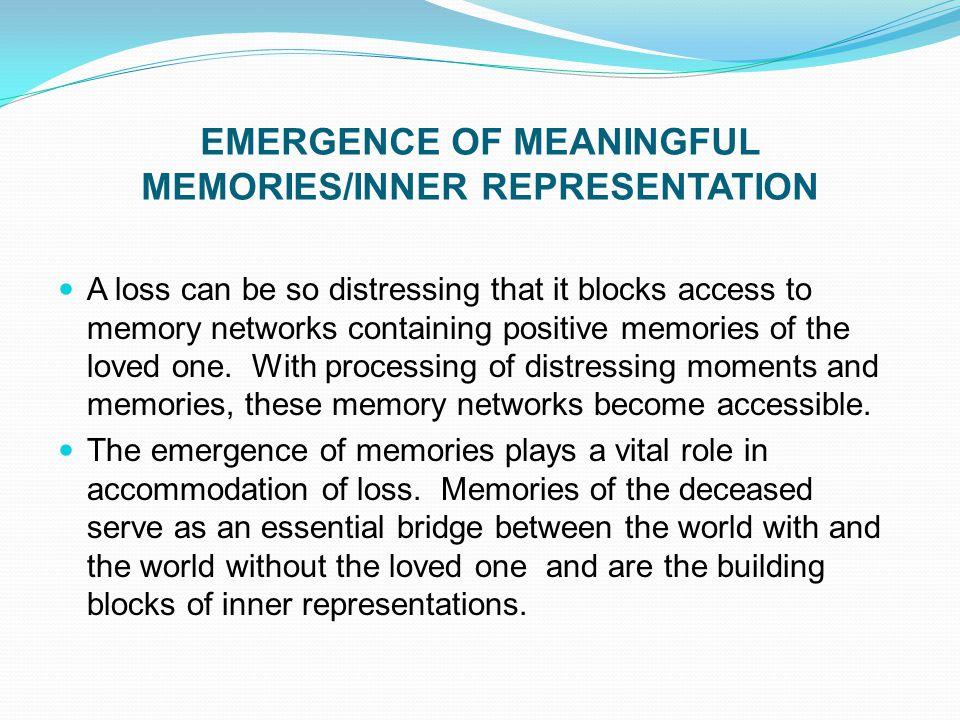 EMERGENCE OF MEANINGFUL MEMORIES/INNER REPRESENTATION
